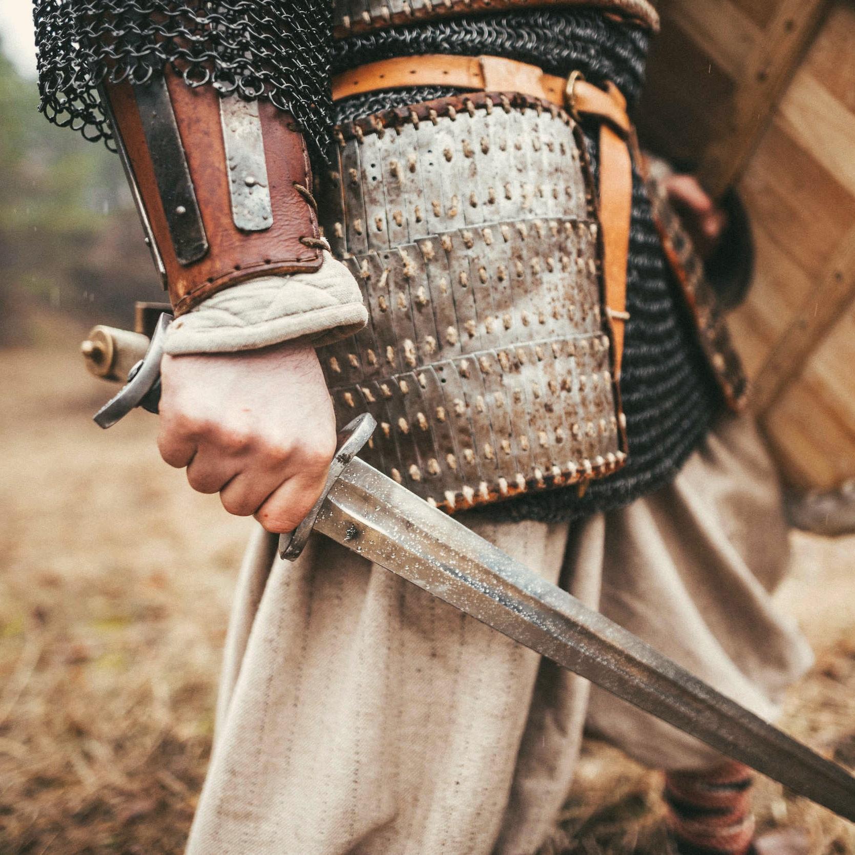 Šermiarske show - Vikingovia, bájni Gréci, ale aj stredovekí žoldnieri či pestrofarební Landsknechti vo veľkých vojenských formáciách.