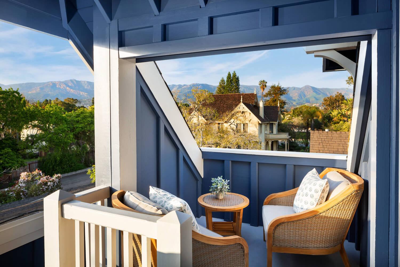 patio with view of Santa Barbara