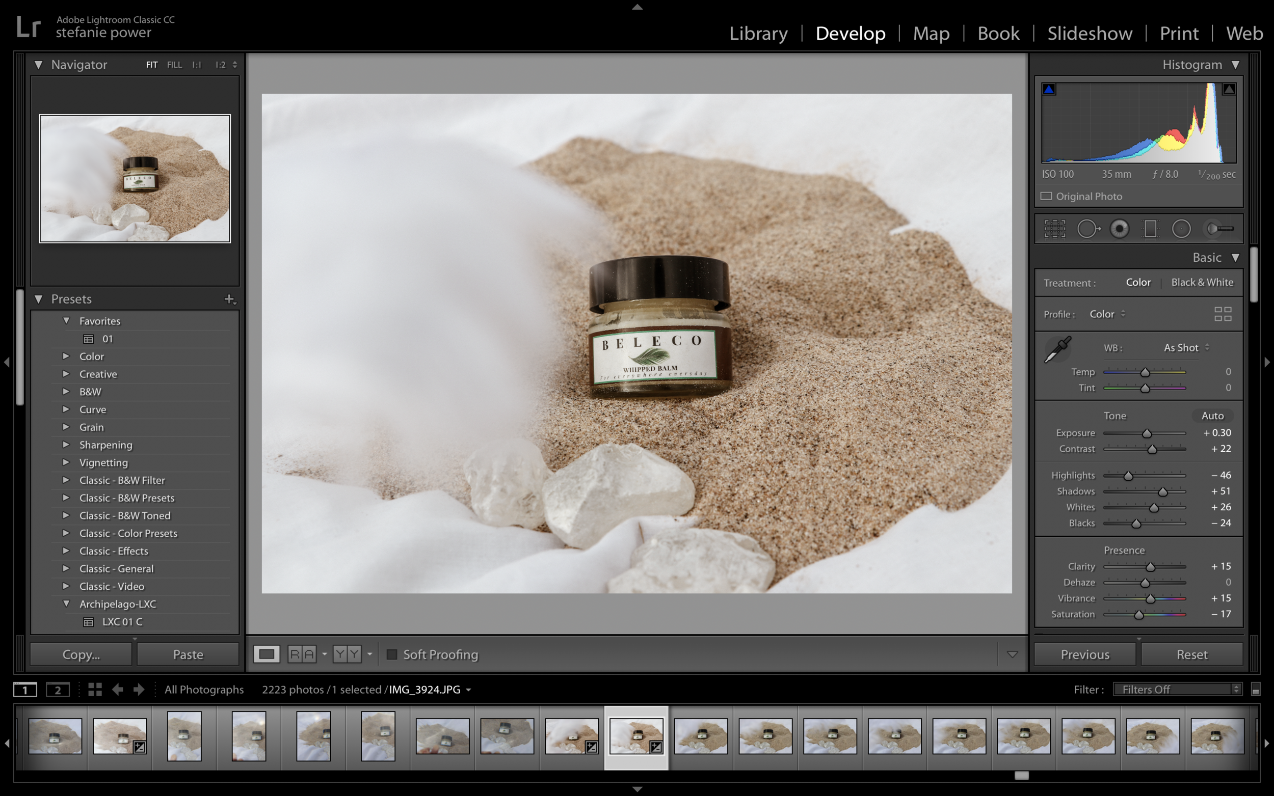 Recently, I opened up product shoots to my clients. Click through to see how I styled my first product shoot for organic body and lip balm, Beleco.