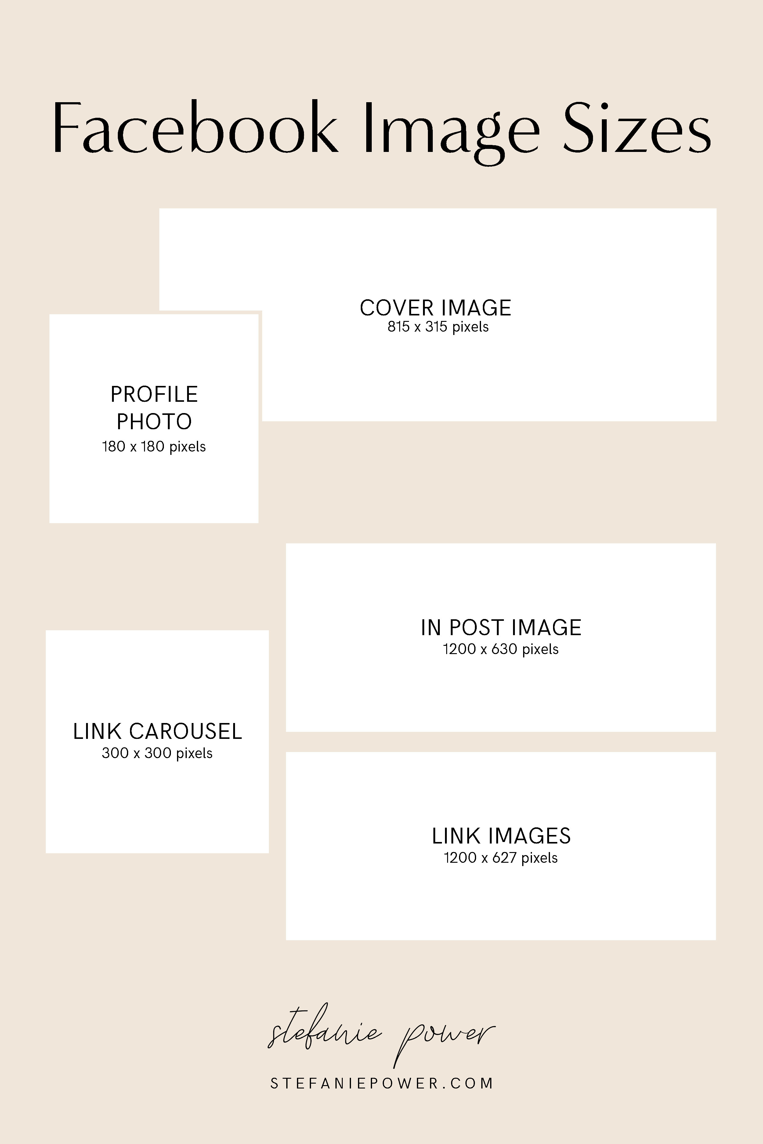 2019 Social Media Image Size Guide for Pinterest, Facebook, Instagram, Twitter and Youtube. | stefaniepower.com