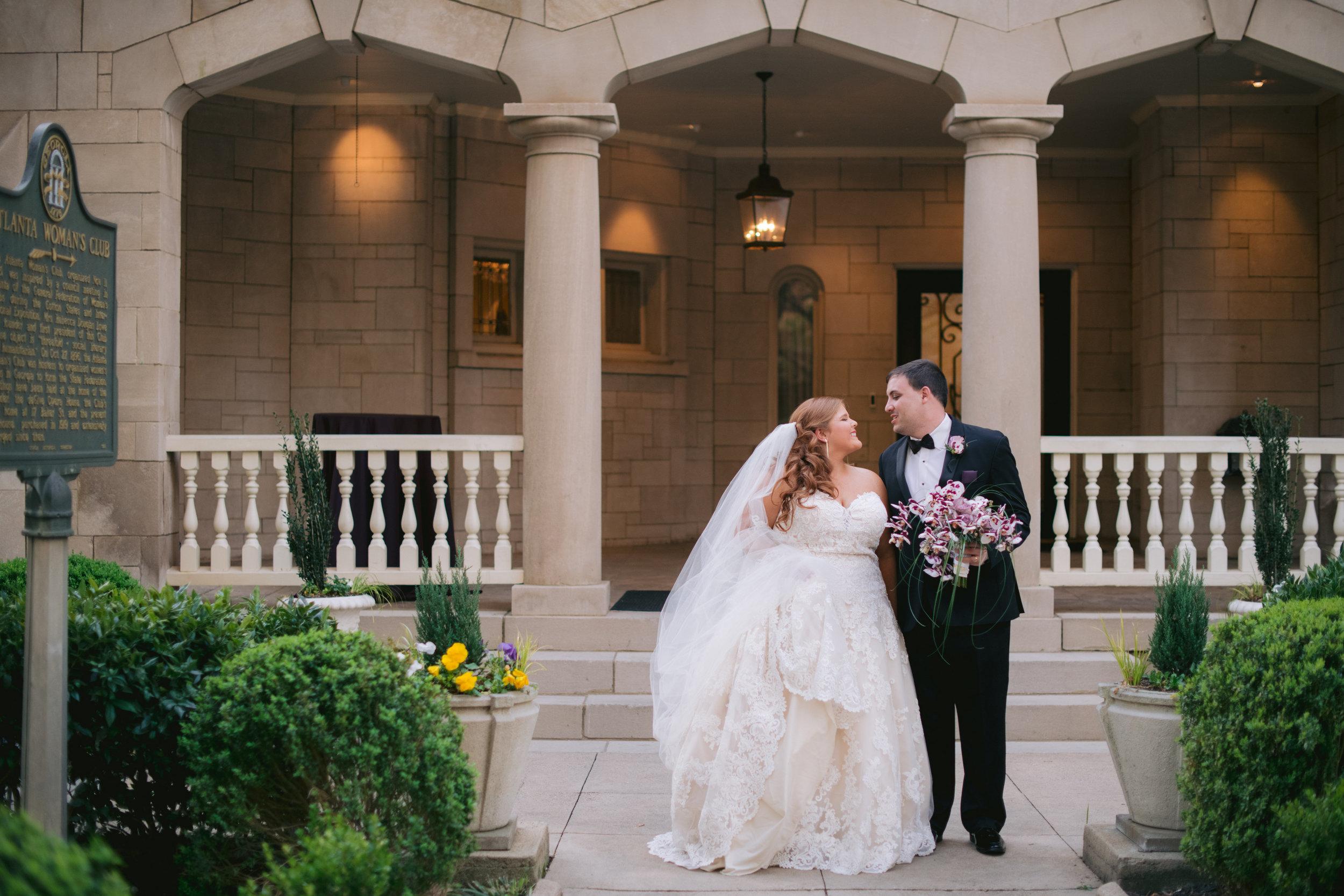 atlanta wedding bride and groom