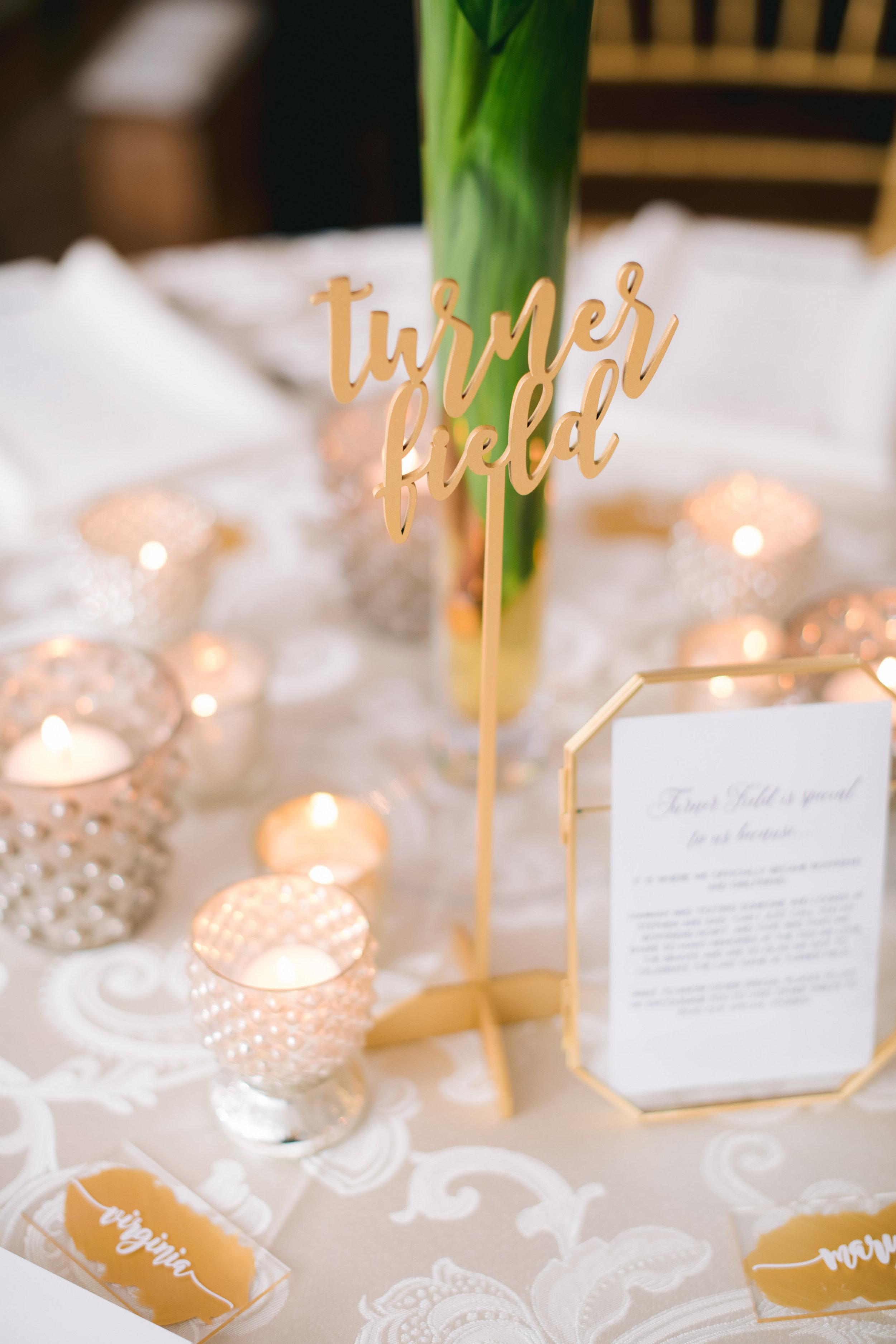 atlanta wedding table  numbers
