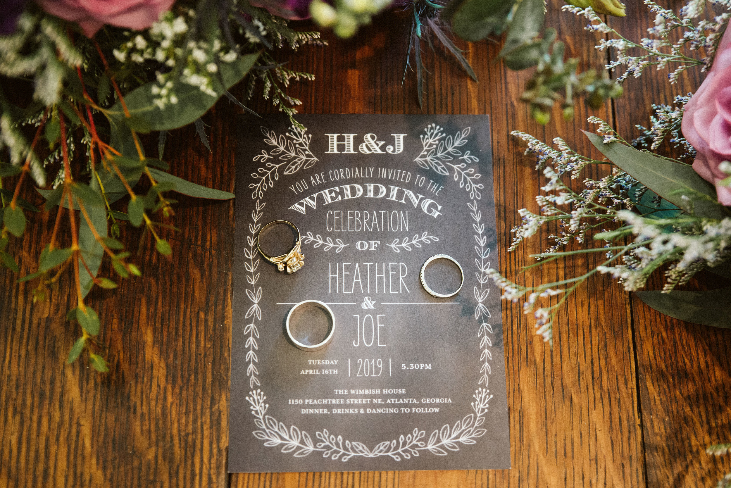 Atlanta wedding invitation.