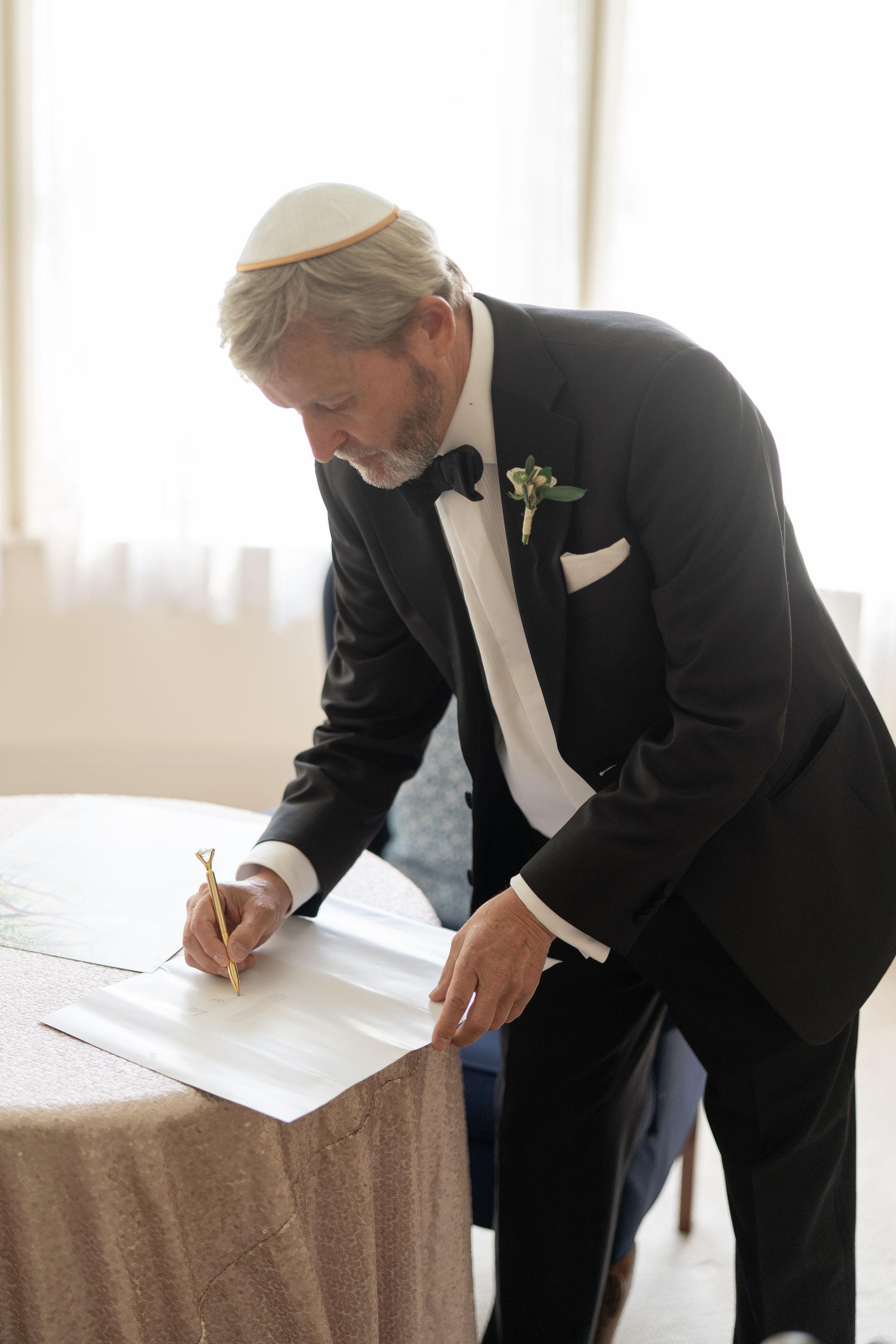 ketubah signing wimbish atlanta