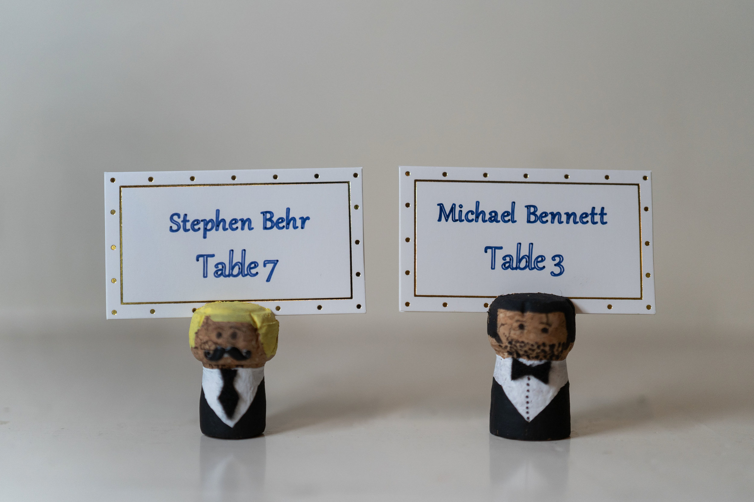 wimbish house escort cards table numbers