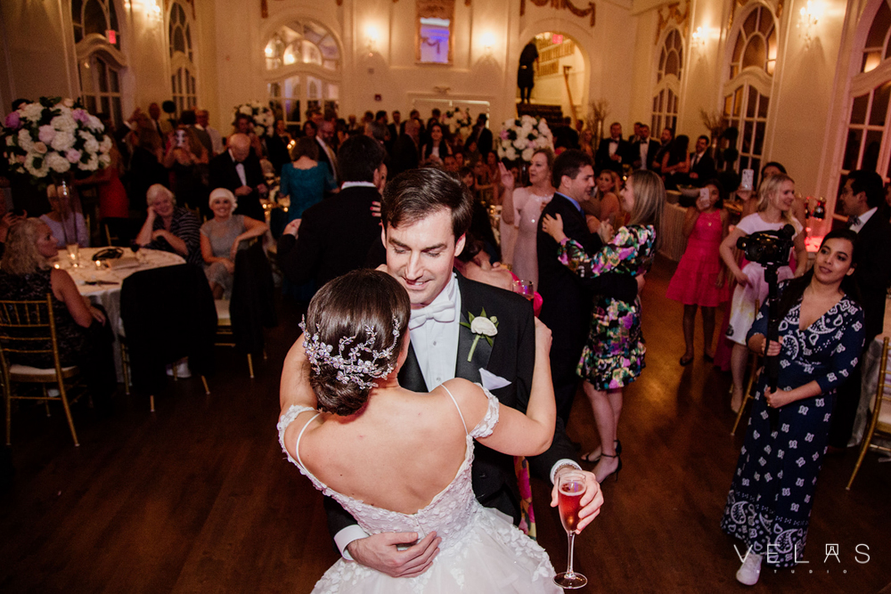 Bride and groom first dance at The Wimbish House.