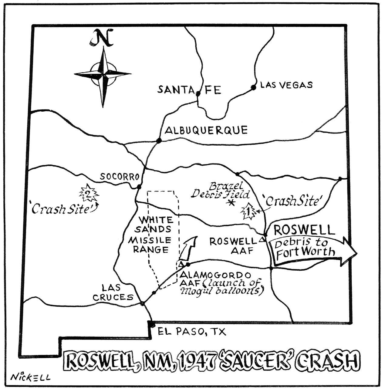 Mapa de los dos choques