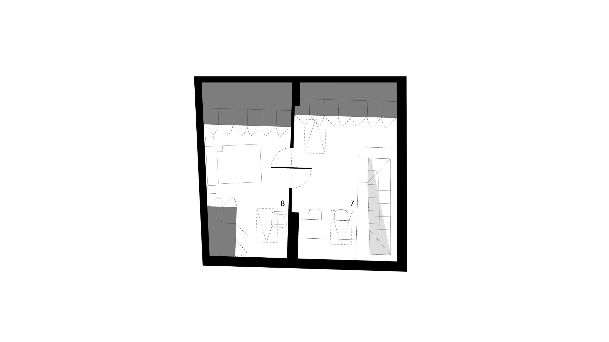 2nd FLOOR PLAN _ 7 office . 8 bedroom