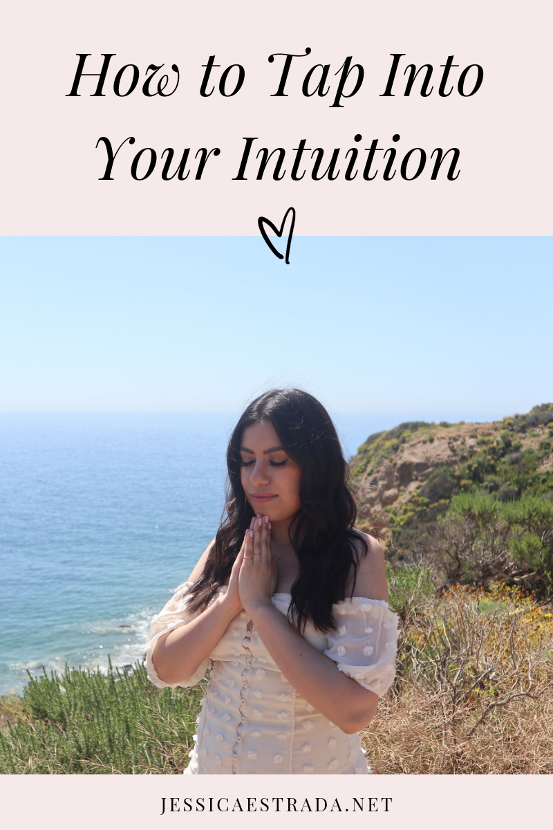 Learn how to use meditation, journaling, Human Design, and signs from the universe to tap into your intuition and use it to guide you in every area of your life. Click through to read my tips on how to tap into your intuition. #intuition #manifestation #manifestationcoach #lifecoach