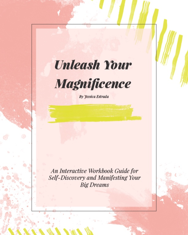 Journal with Jessica - Unleash Your Magnificence is a digital workbook designed to help you elevate your self-worth and manifest your big dreams. It's filled with thought-provoking journal prompts that empower you to be your own manifestation coach.