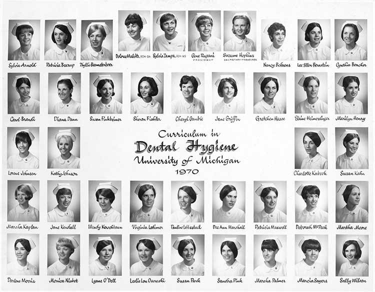 U-M Dental Hygiene Class of 1970