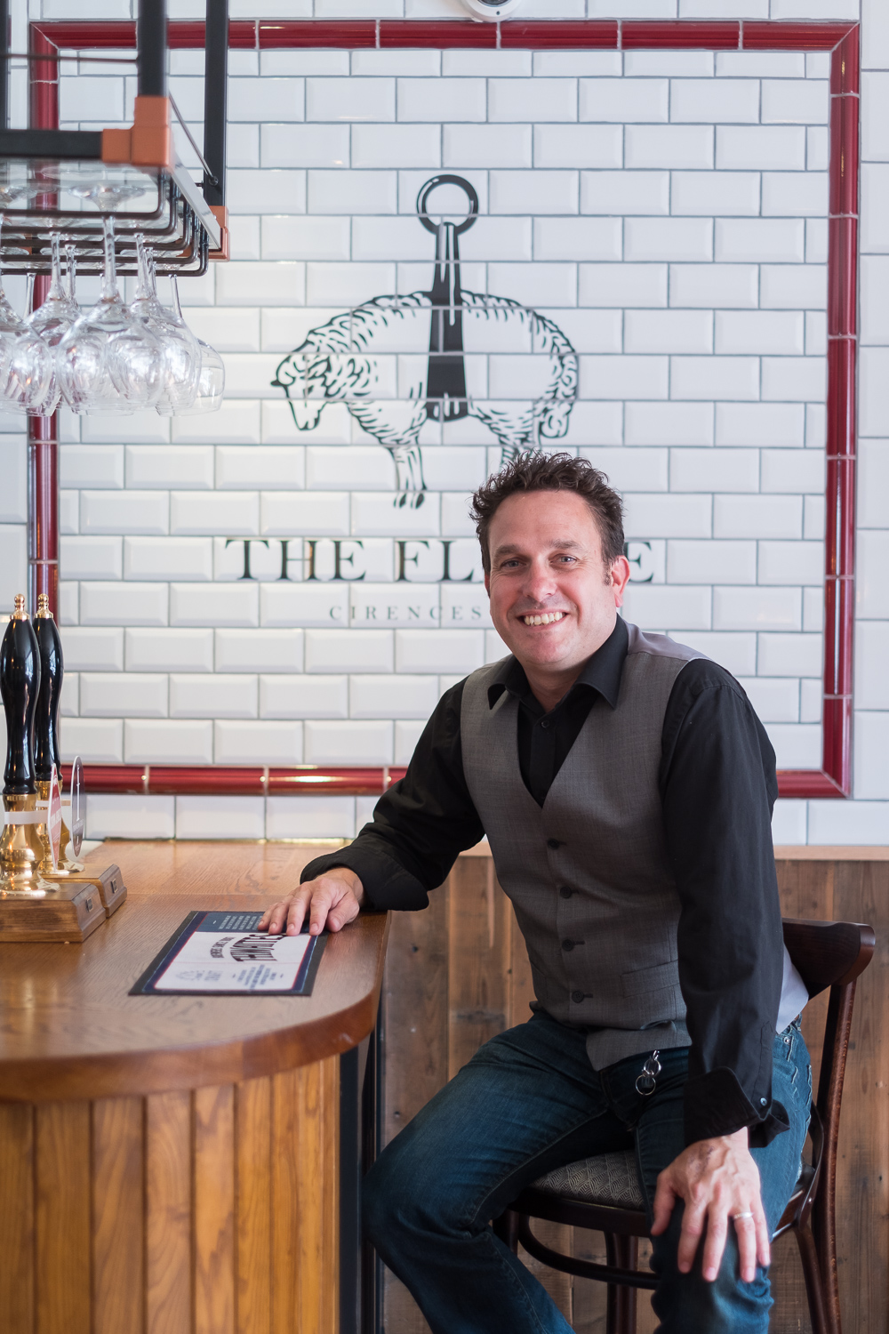 Portrait photography of Thwaites inn manager