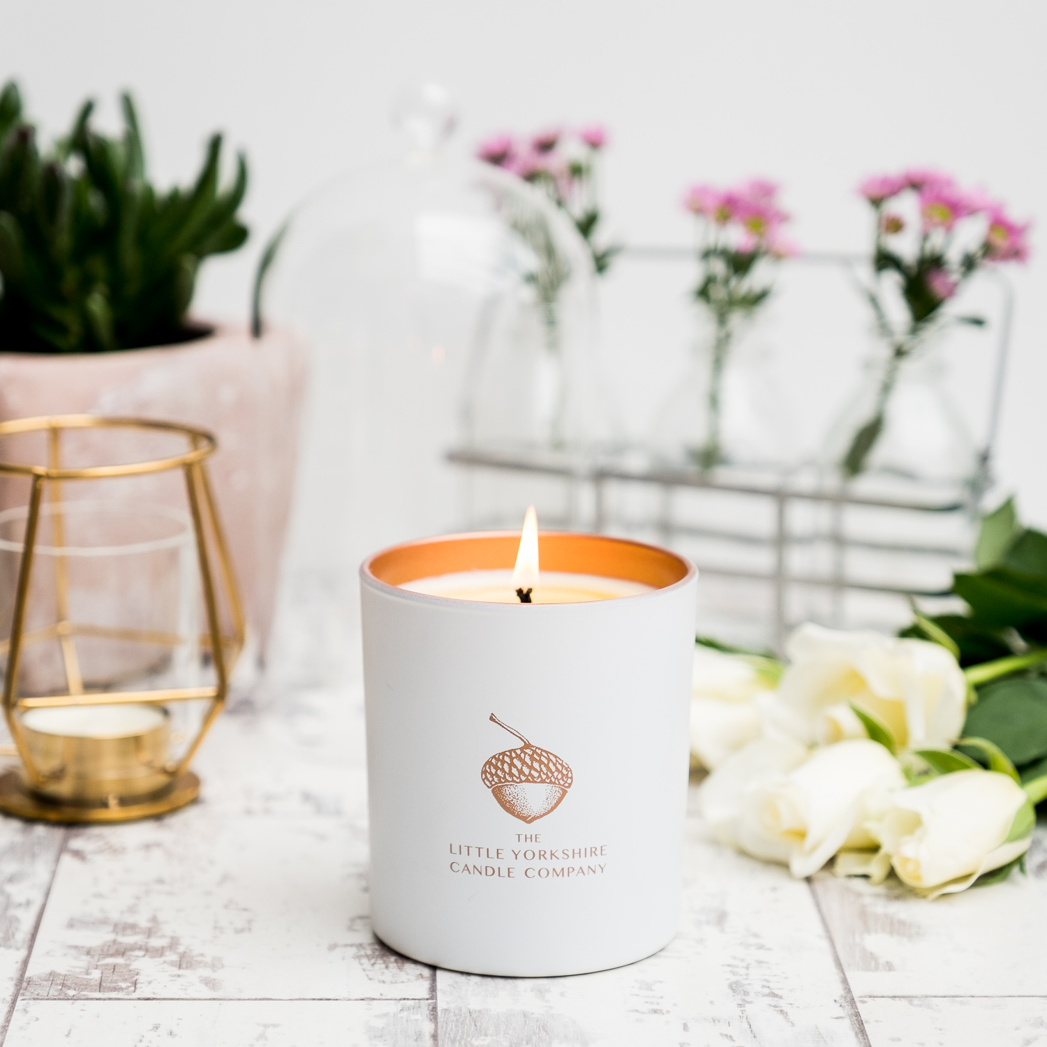 Product photography for The Little Yorkshire Candle Company