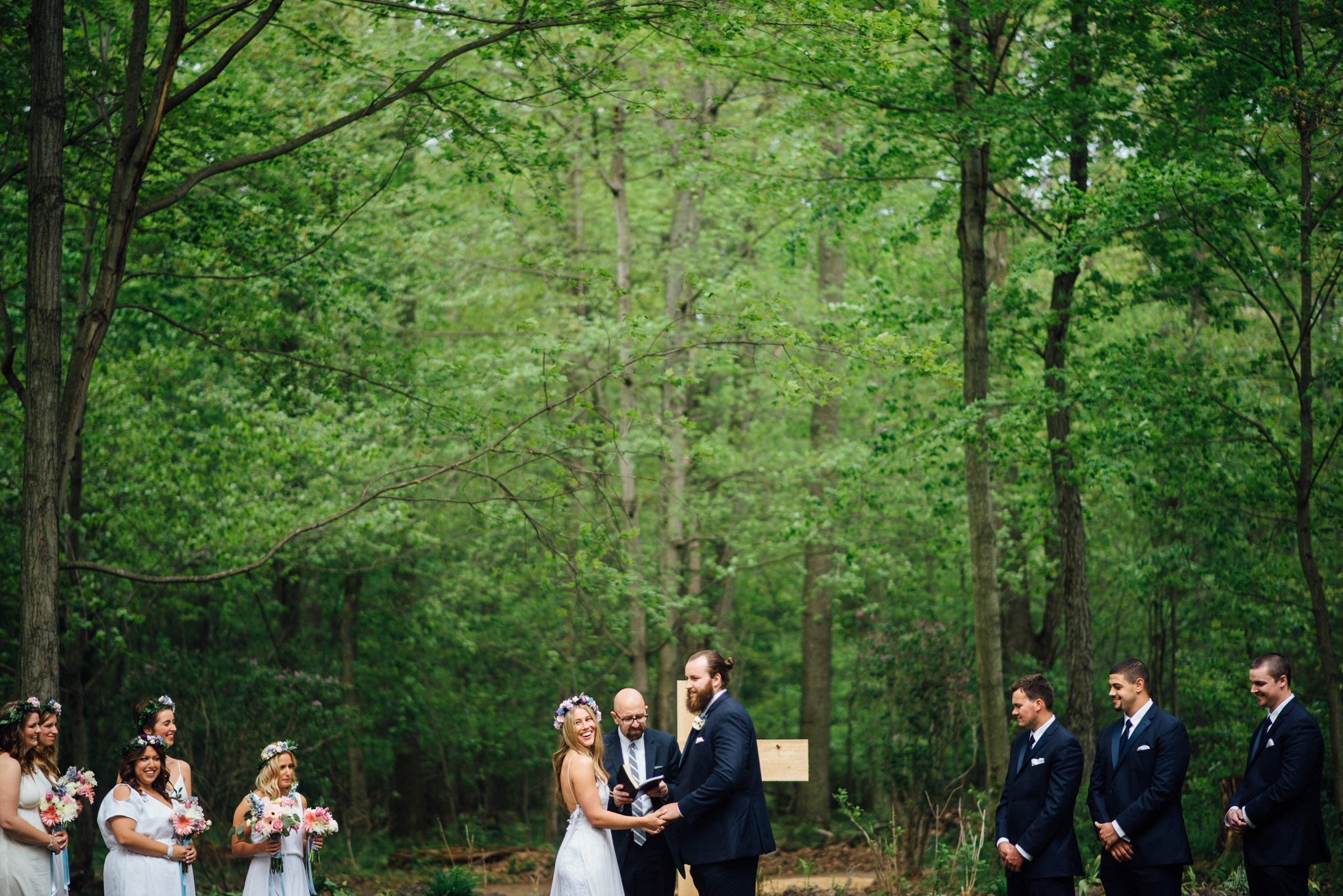Fernwood Hills London Ontario Bohemian Wedding ceremony