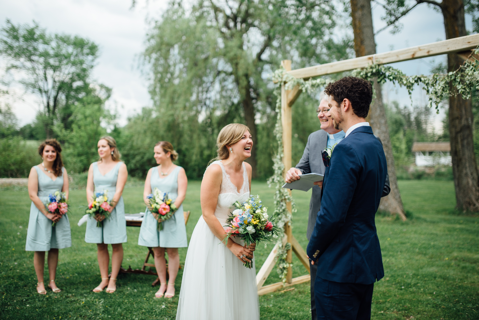 Outdoor wedding ceremony at Tralee in Caledon - Sara Monika, Photographer