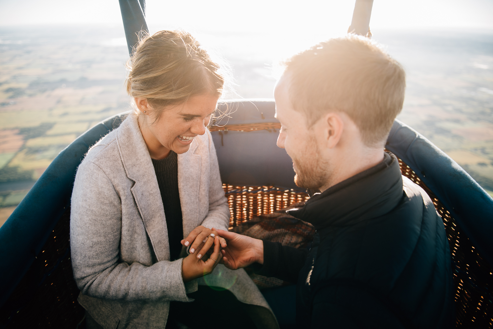 Hot Air Balloon Proposal by Sara Monika, Photographer