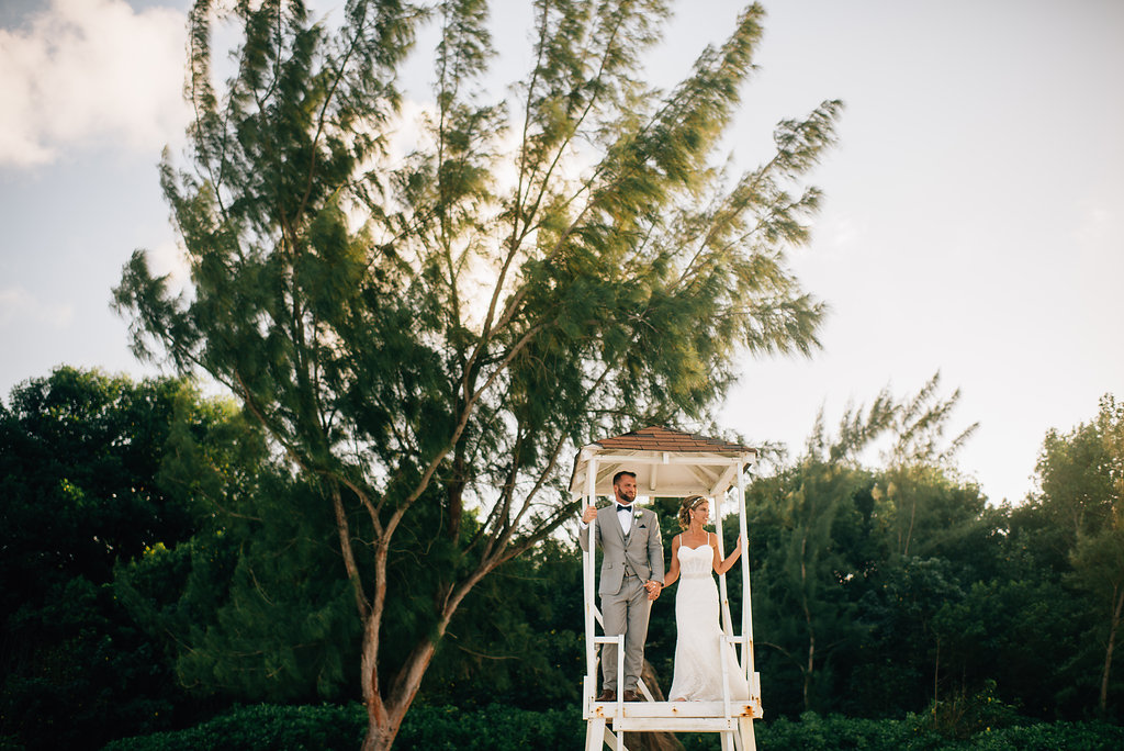 bride and groom at destination wedding in Montego Bay, Jamaica