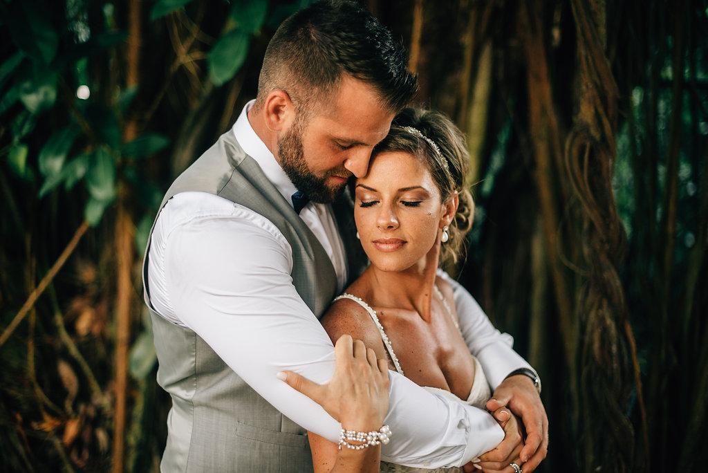 bride and groom at destination wedding in Montego Bay, Jamaica - Sara Monika, Photographer