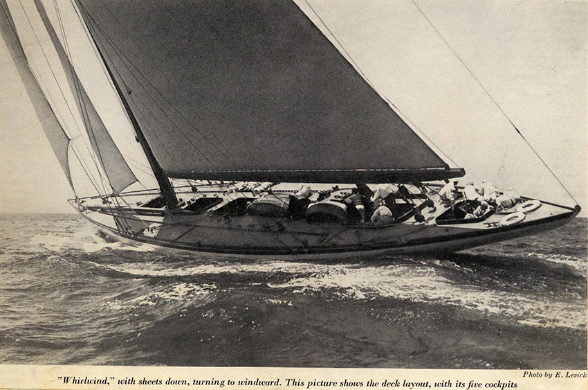 WHIRLWIND, THE J CLASS AMERICA'S CUP RACER