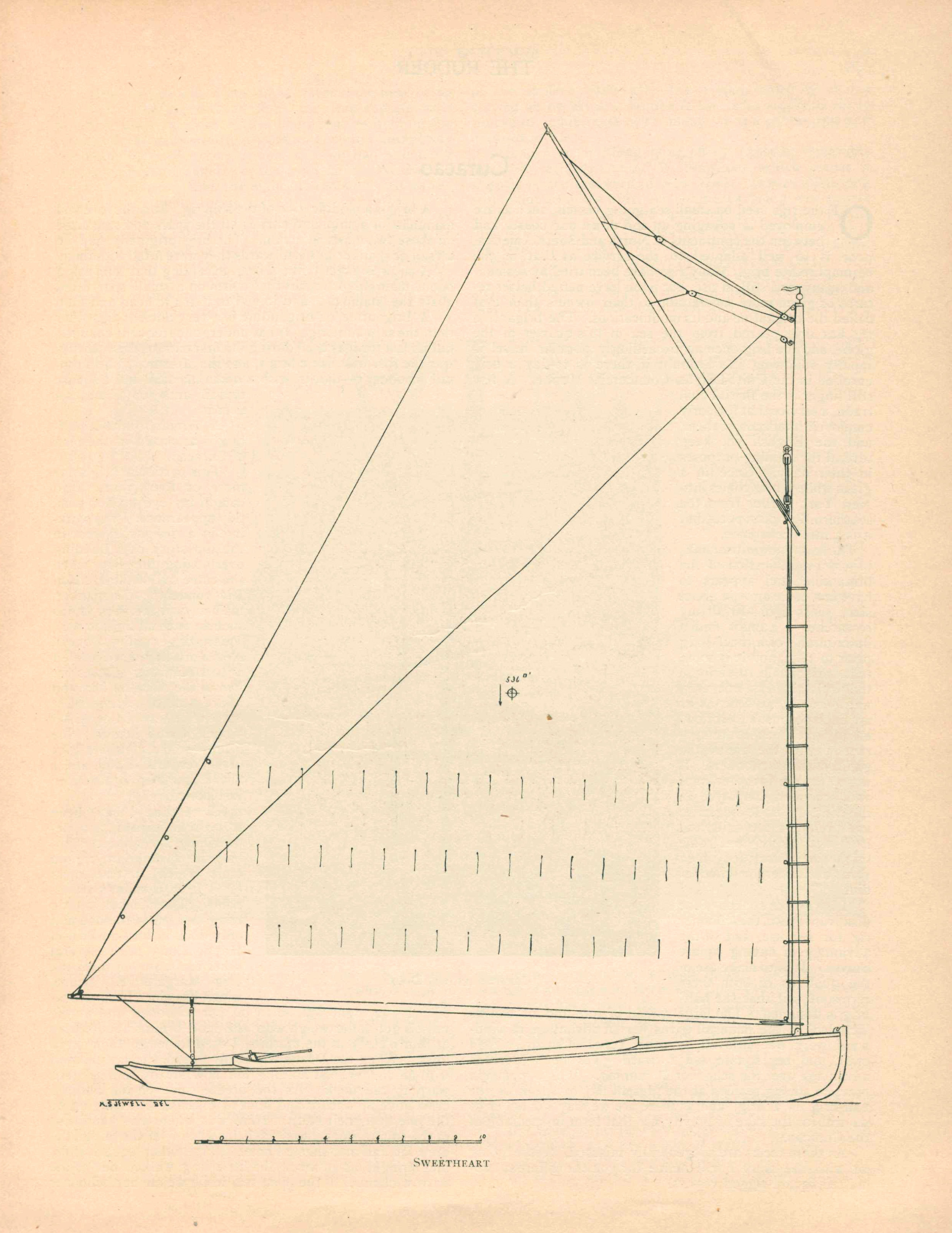 SAIL PLAN FOR GIL SMITH'S  SWEETHEART , FORMERLY  MARIAM