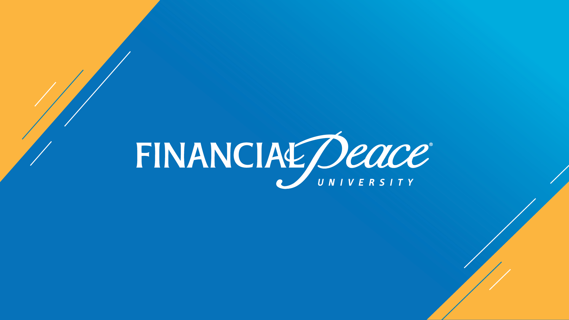 Financial Peace University - Take control of your money with Financial Peace University (FPU)! This nine-lesson course uses biblical wisdom and common sense to help you tackle budgeting, pay off debt, and make your money work for you.