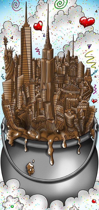 A Melting Pot Of Chocolate - 58 x 42 x 5 cm