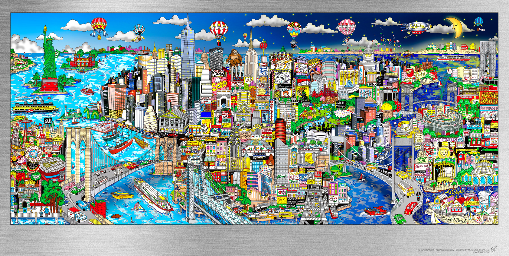Illusions Of NYC - 76 x 130 x 6 cm