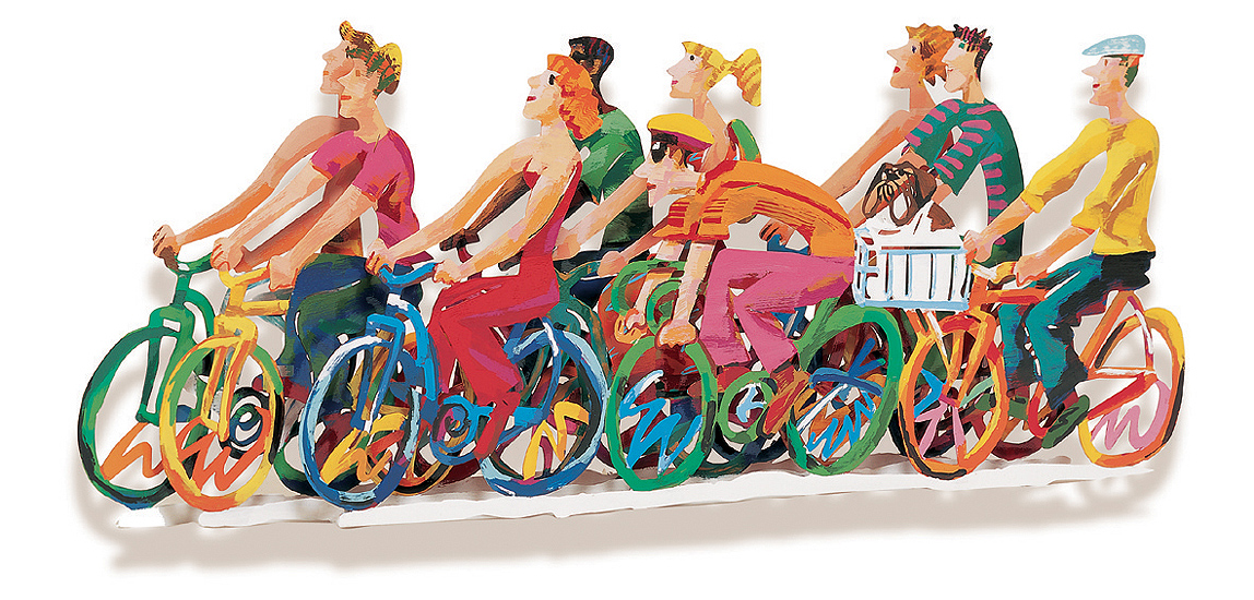 Biking B - 1997Hand painted cutout steel, 3 layers241/295137 x 56 cm