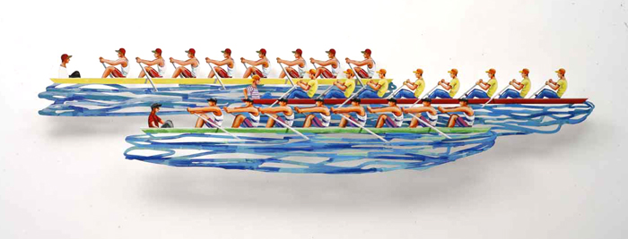 Row Boats - 2008Hand painted cutout steel, 3 layers30/150184 x 70 cm