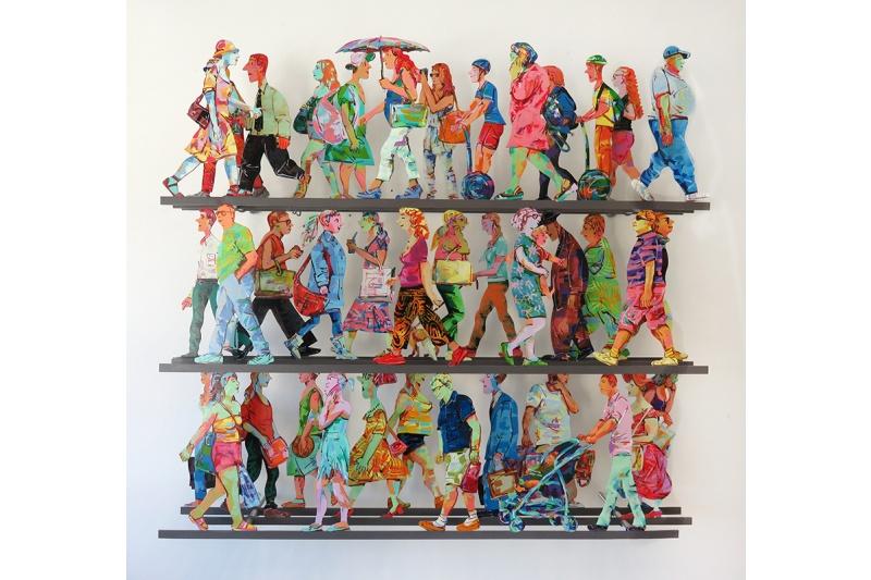 Fifth Avenue J - 2016Hand painted cutout alu, 3 layers66/15069 x 76 cm