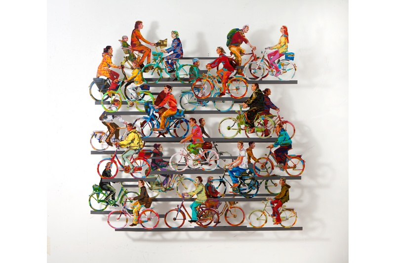 City On Wheels - 2016Hand painted cutout alu, 2 layers29/150116 x 120 cm