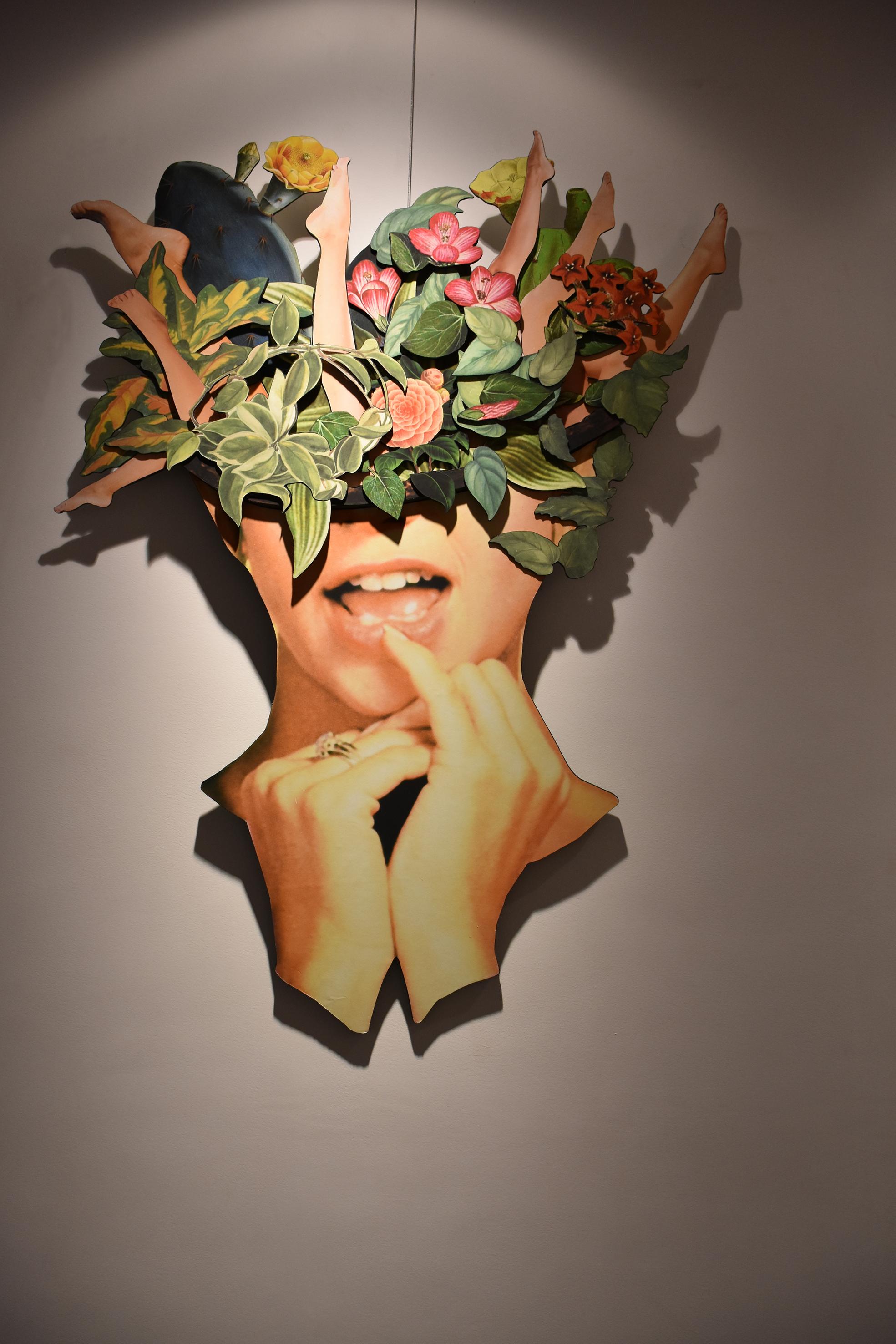 Overflow - 3D fine print on wood140 x 110 cm