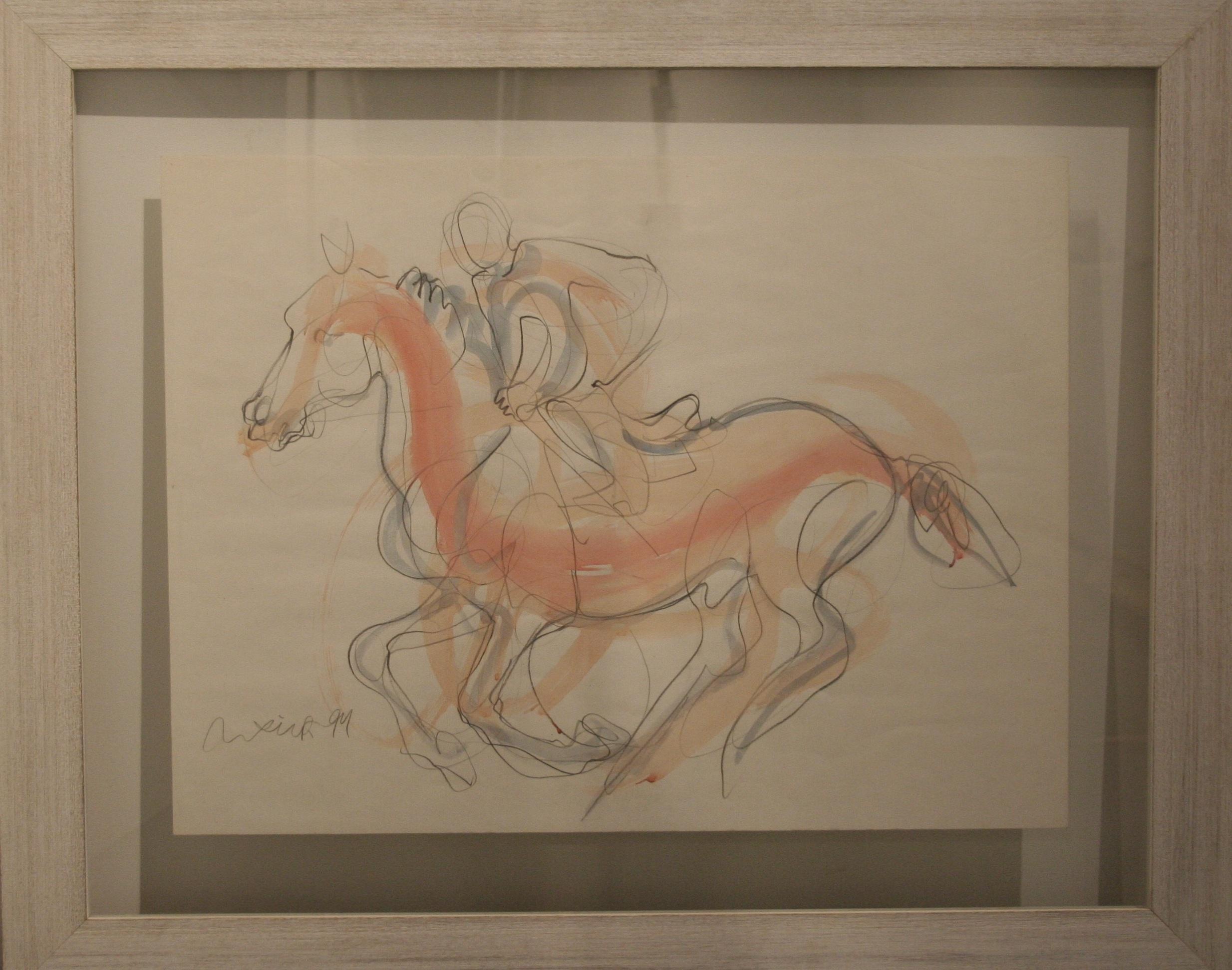 Aquarelle Et Crayon - Watercolor on paper80 x 98 cm