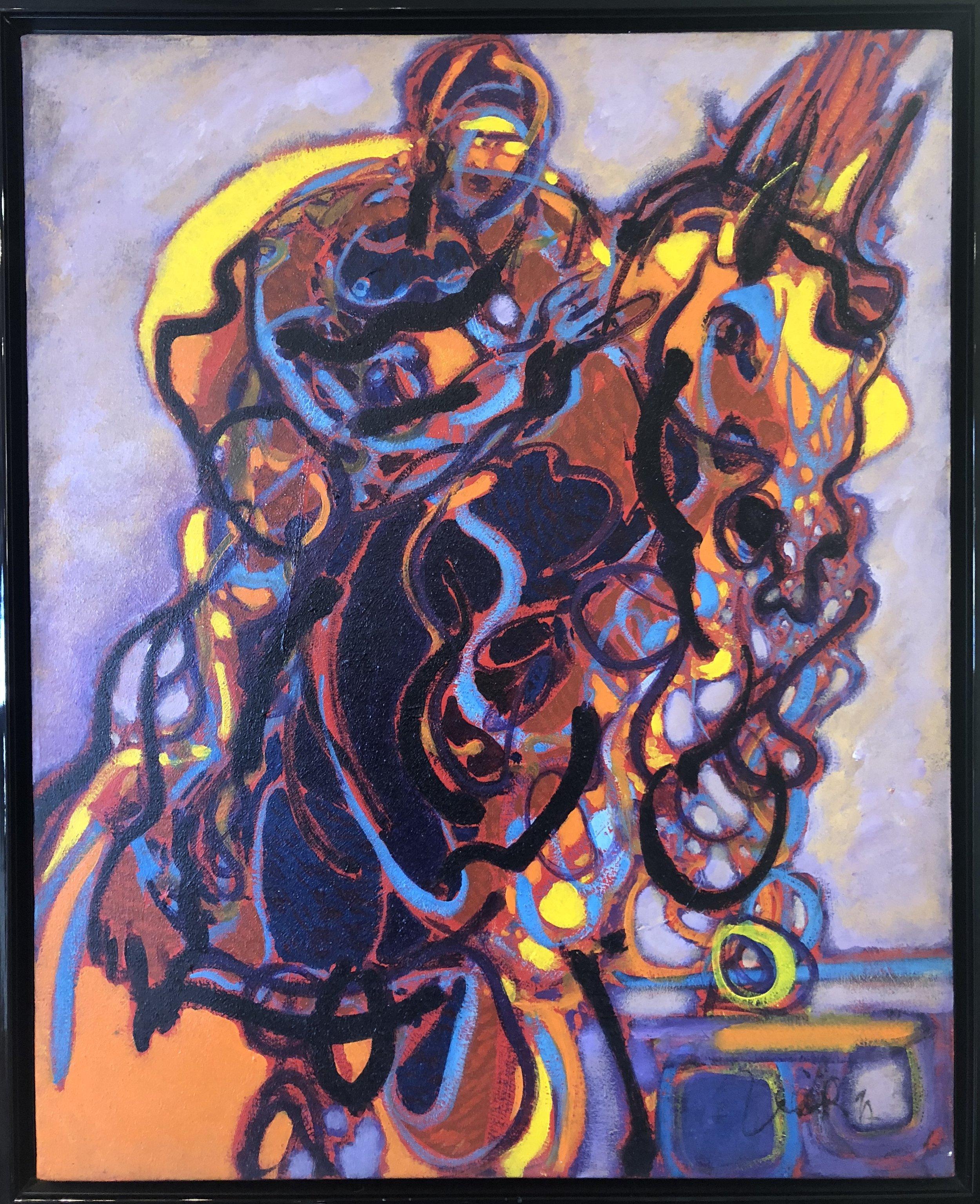 La Course - Oil on canvas65 x 81 cm
