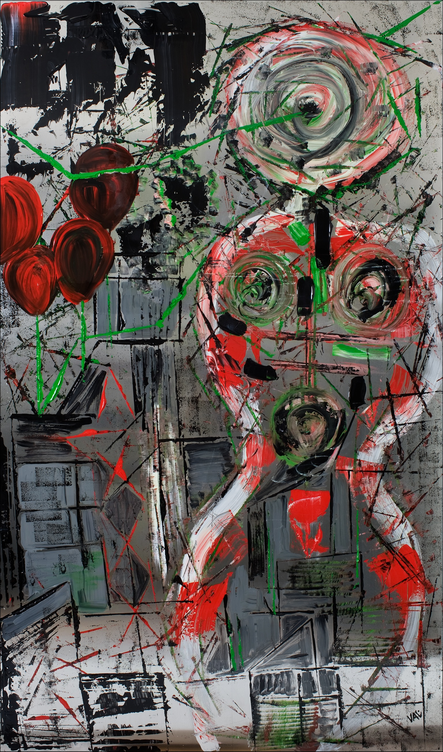 Les Ballons Rouges - 2013Acrylic and resin on aluminum240 x 140 cm