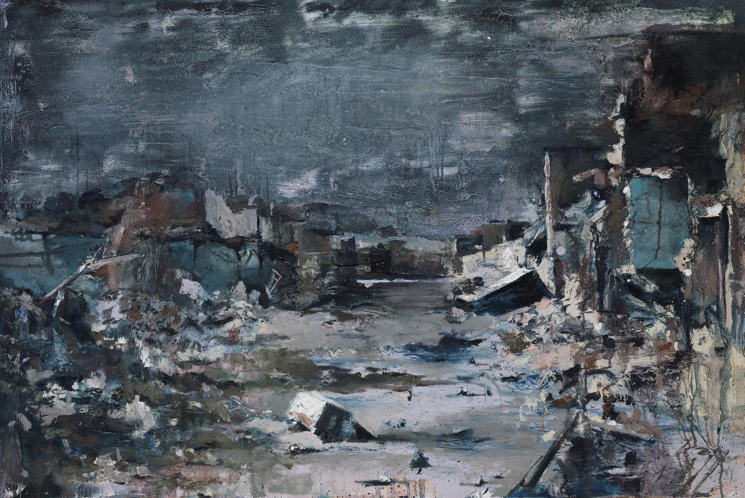 Neighbourhood 2 - Oil on canvas80 x 120 cm