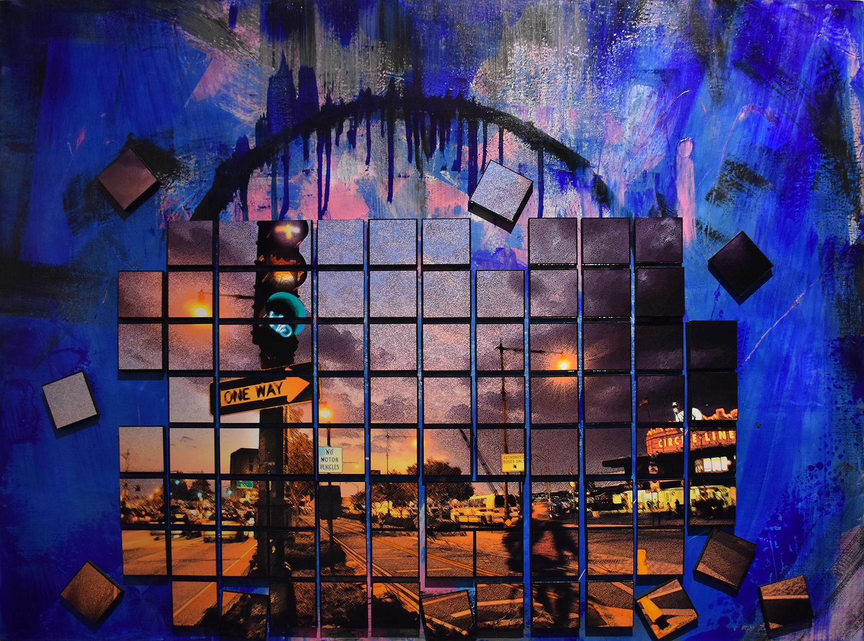 Circle Line - Mixed media on canvas130 x 100 cm