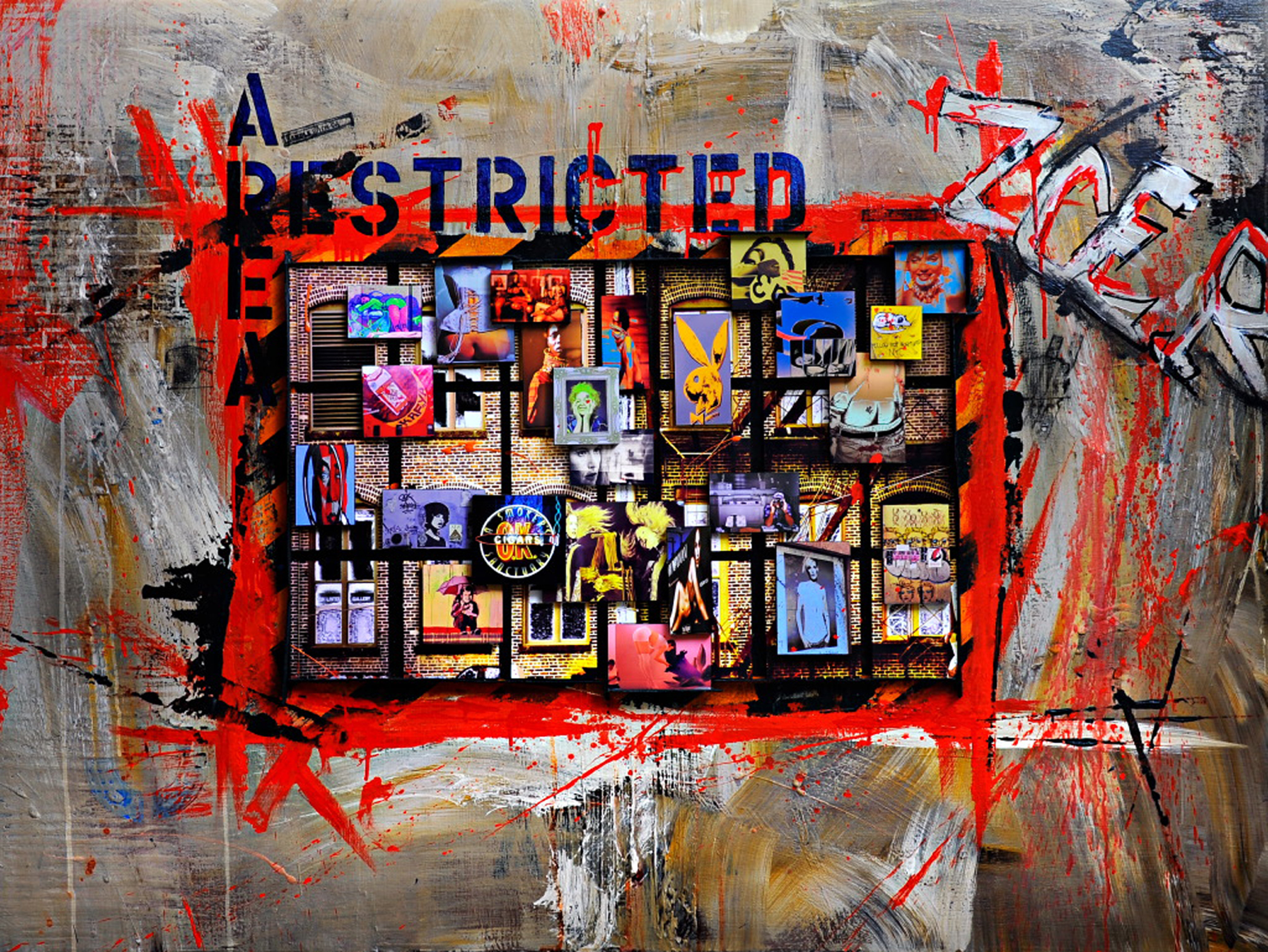 Restricted Area - Mixed media on canvas130 x 100 cm
