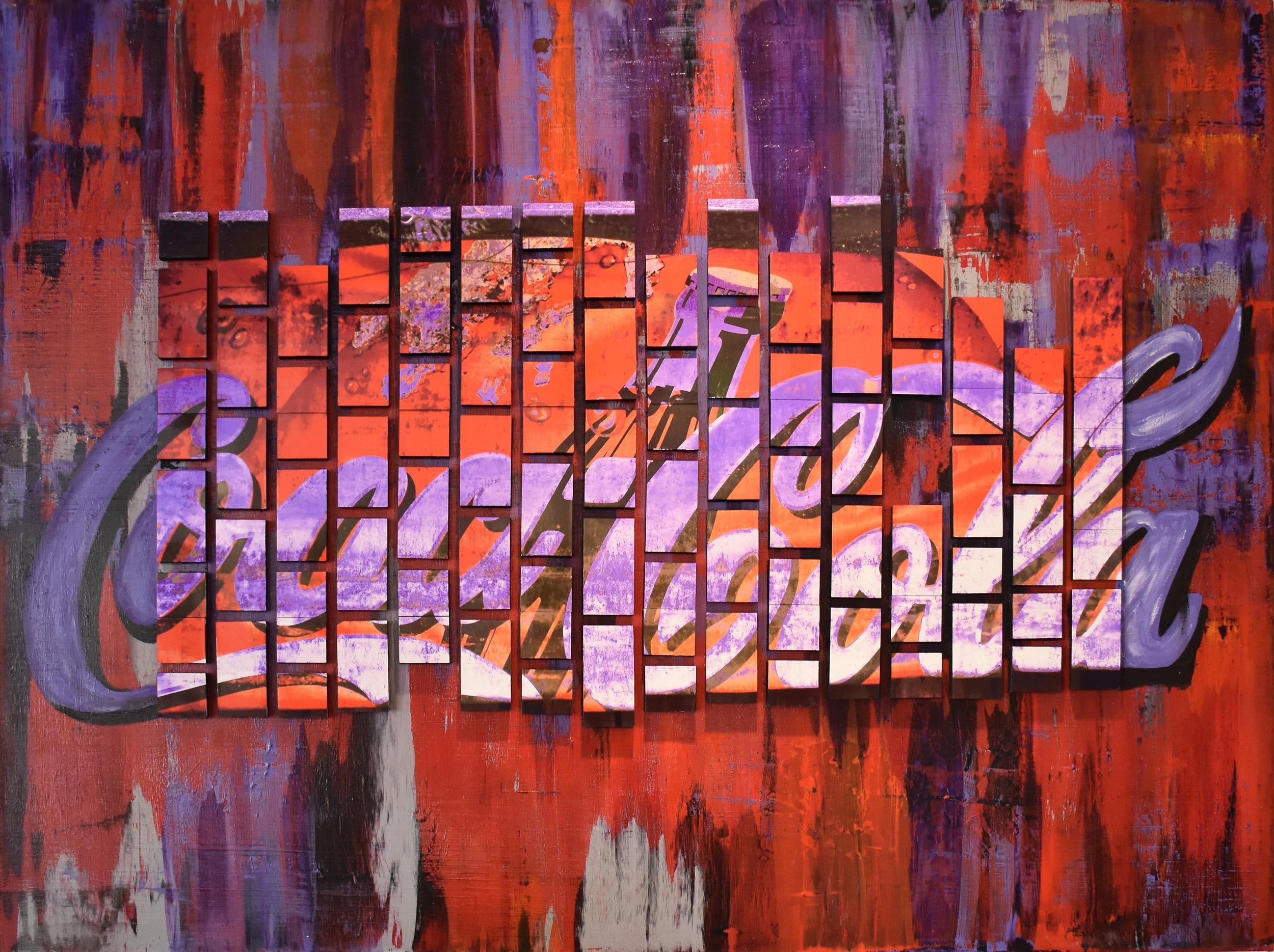 Coca-Cola - Mixed media on canvas130 x 100 cm