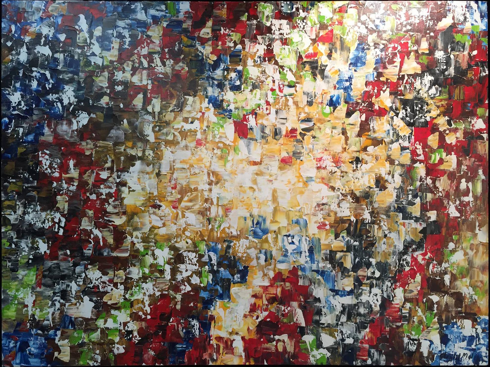 Bonheur - Mixed media on canvas157 x 80 cm