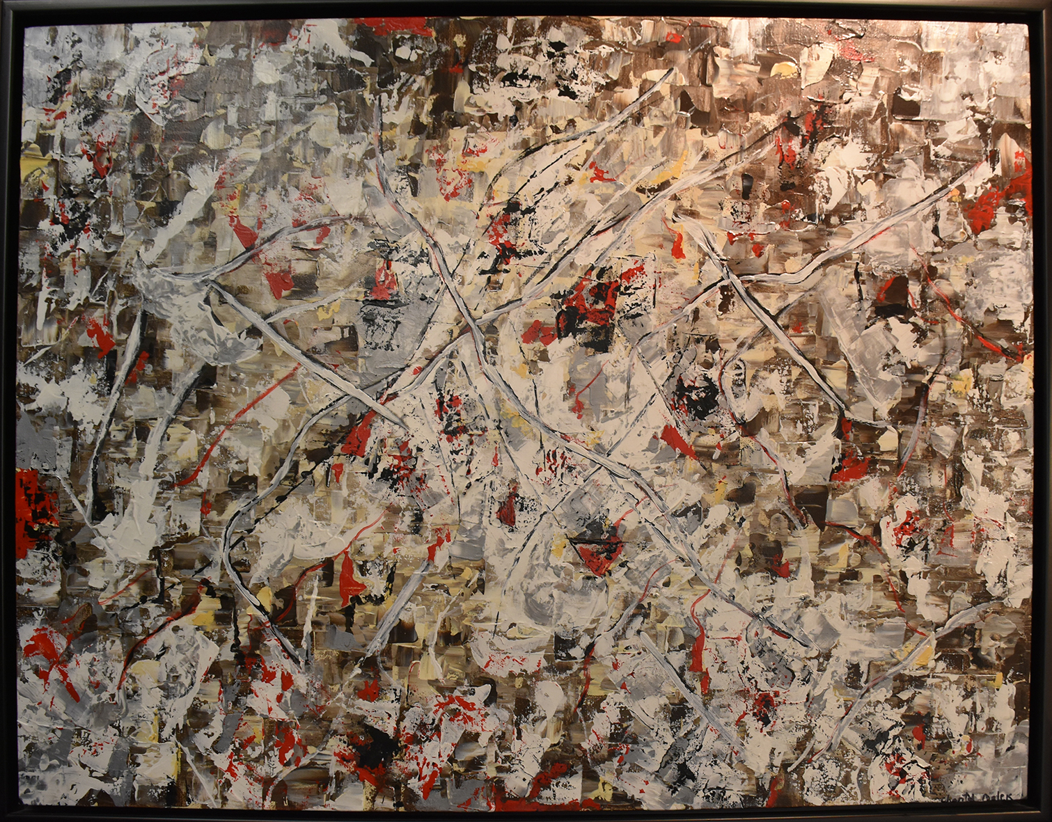A Toi Beyrouth - Mixed media on canvas100 x 77 cm