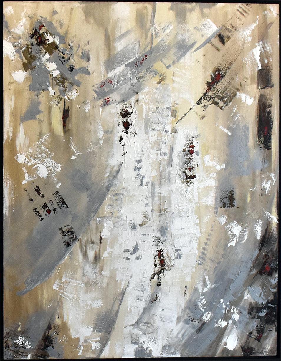 A Vous Deux - Mixed media on canvas, dyptique128 x 97 cm