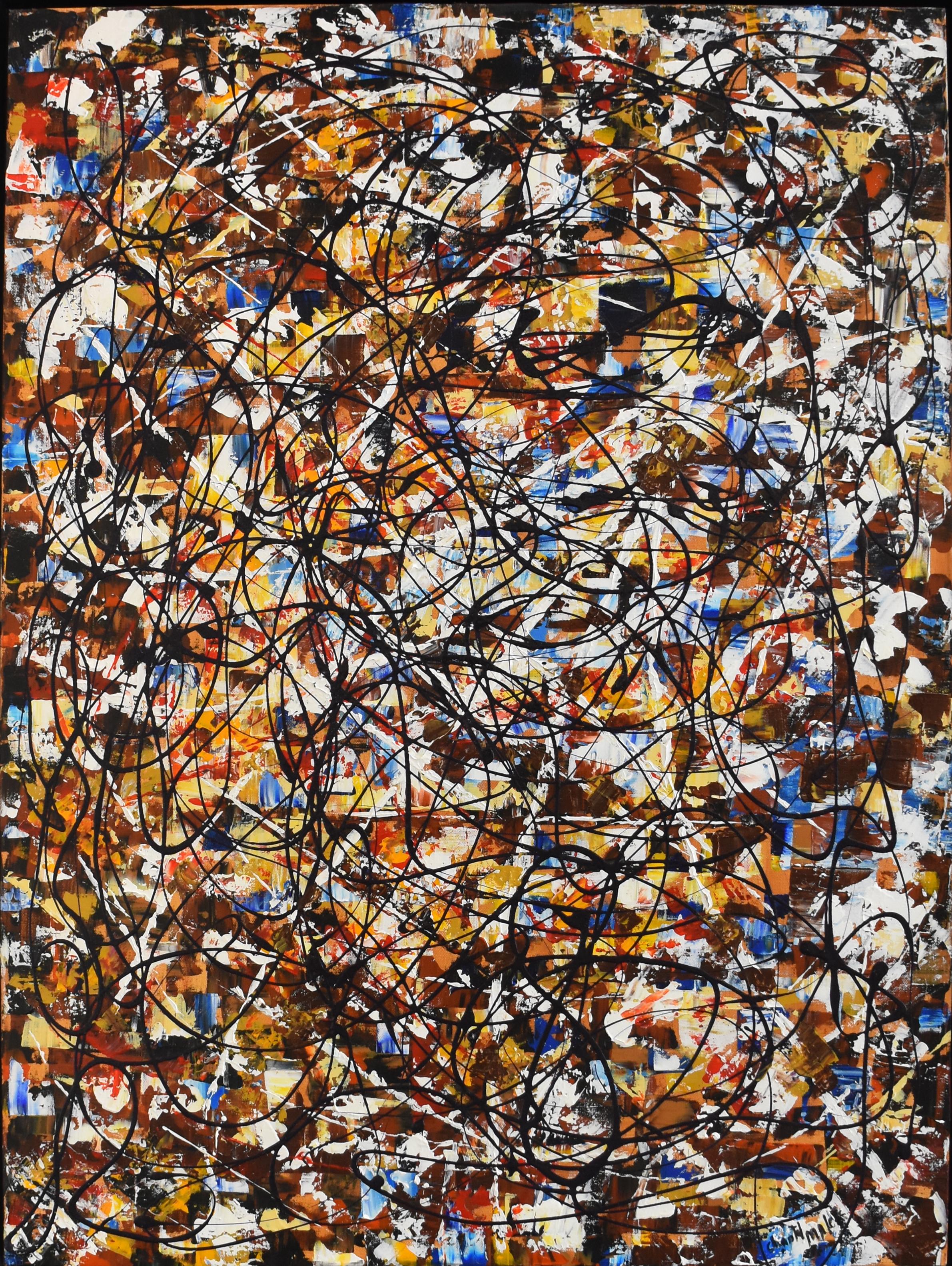 Desir - Mixed media on canvas108 x 81 cm
