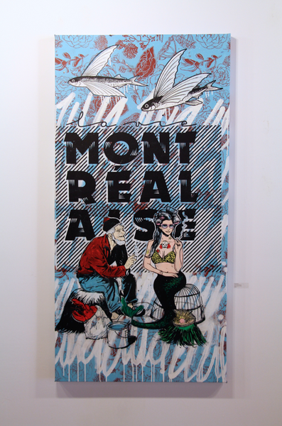La Vie Montrealaise - Mixed media on canvas152 x 92 cm