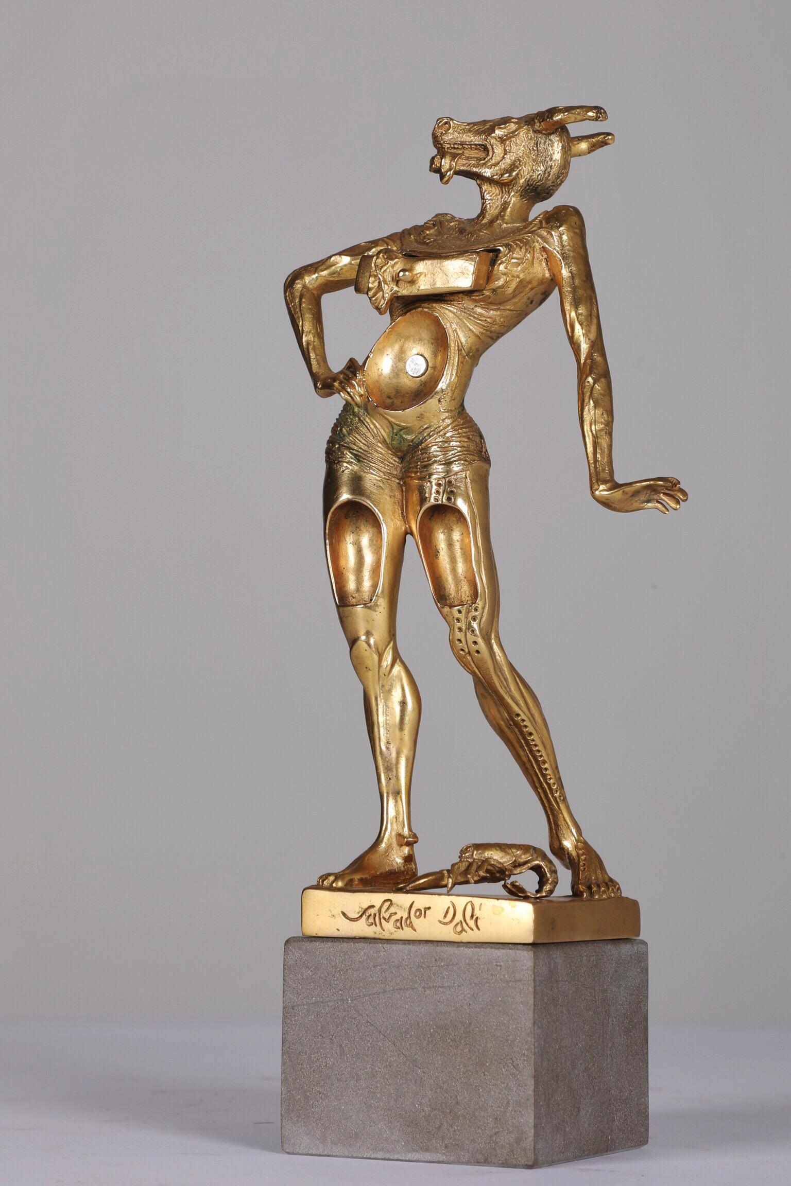 Petit Minotaure - 1981Bronze and gold leaf 22 carats10/350H: 19 cm
