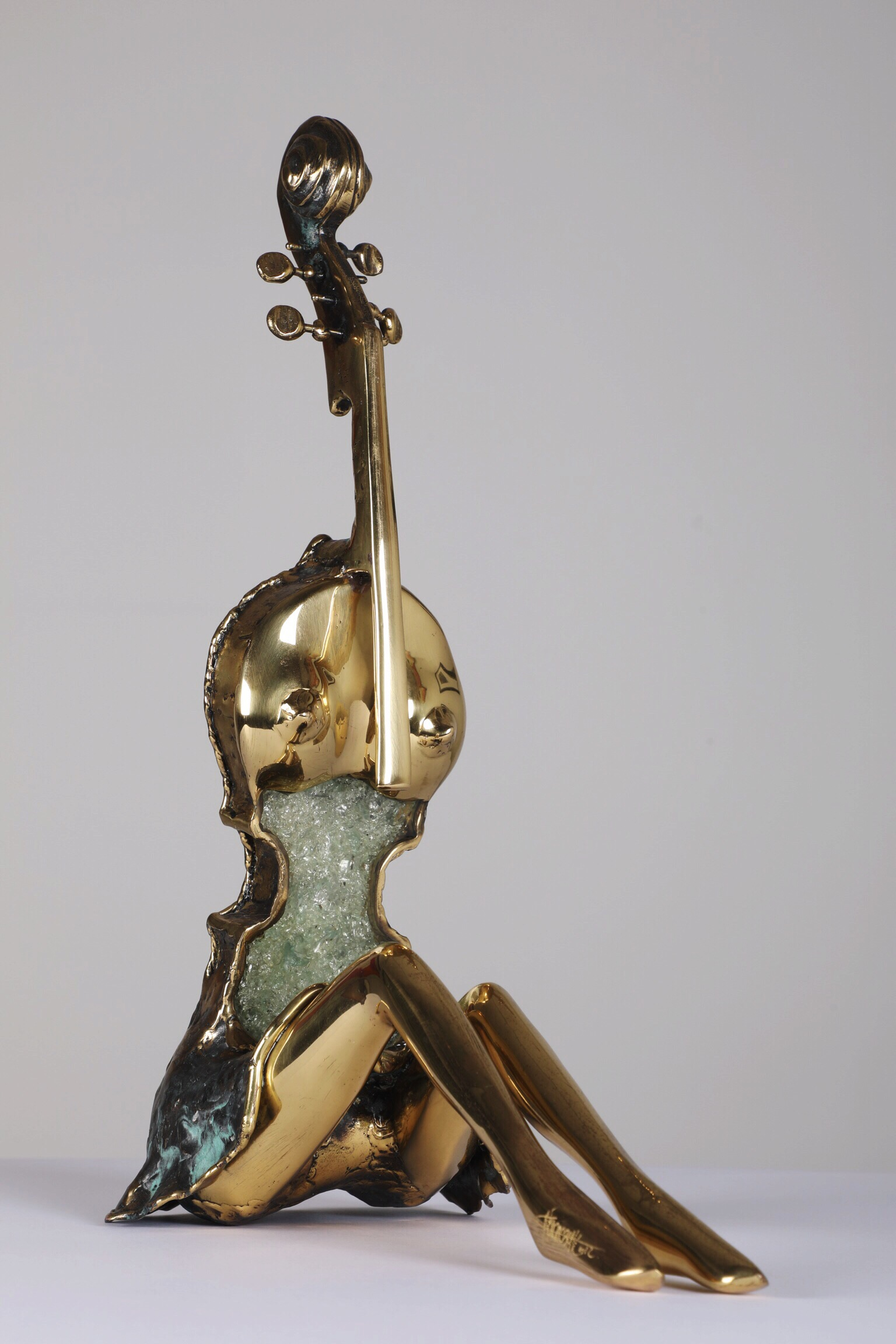 Danseuse - 2012Brass and glassH: 45 cm