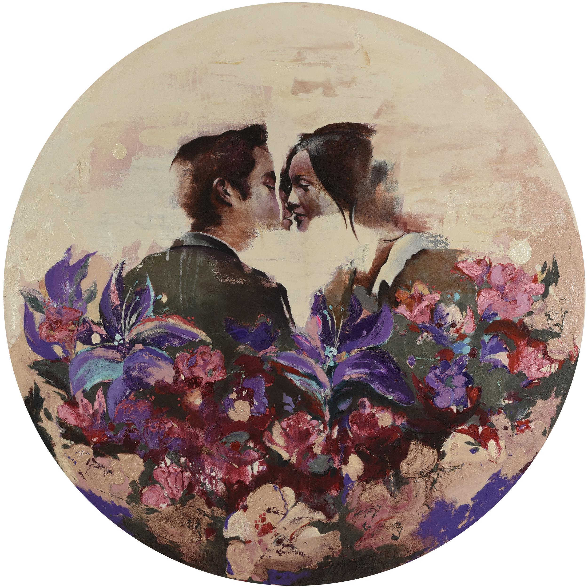 Flower Box 1 - Oil on canvasD: 156 cm