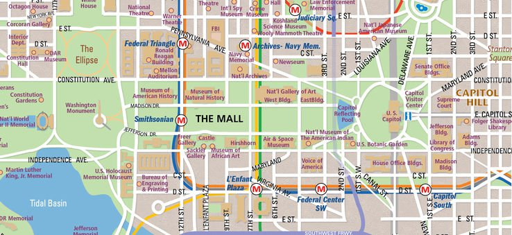 Traveling to the Washington Court from Local Airports/Train Stations -