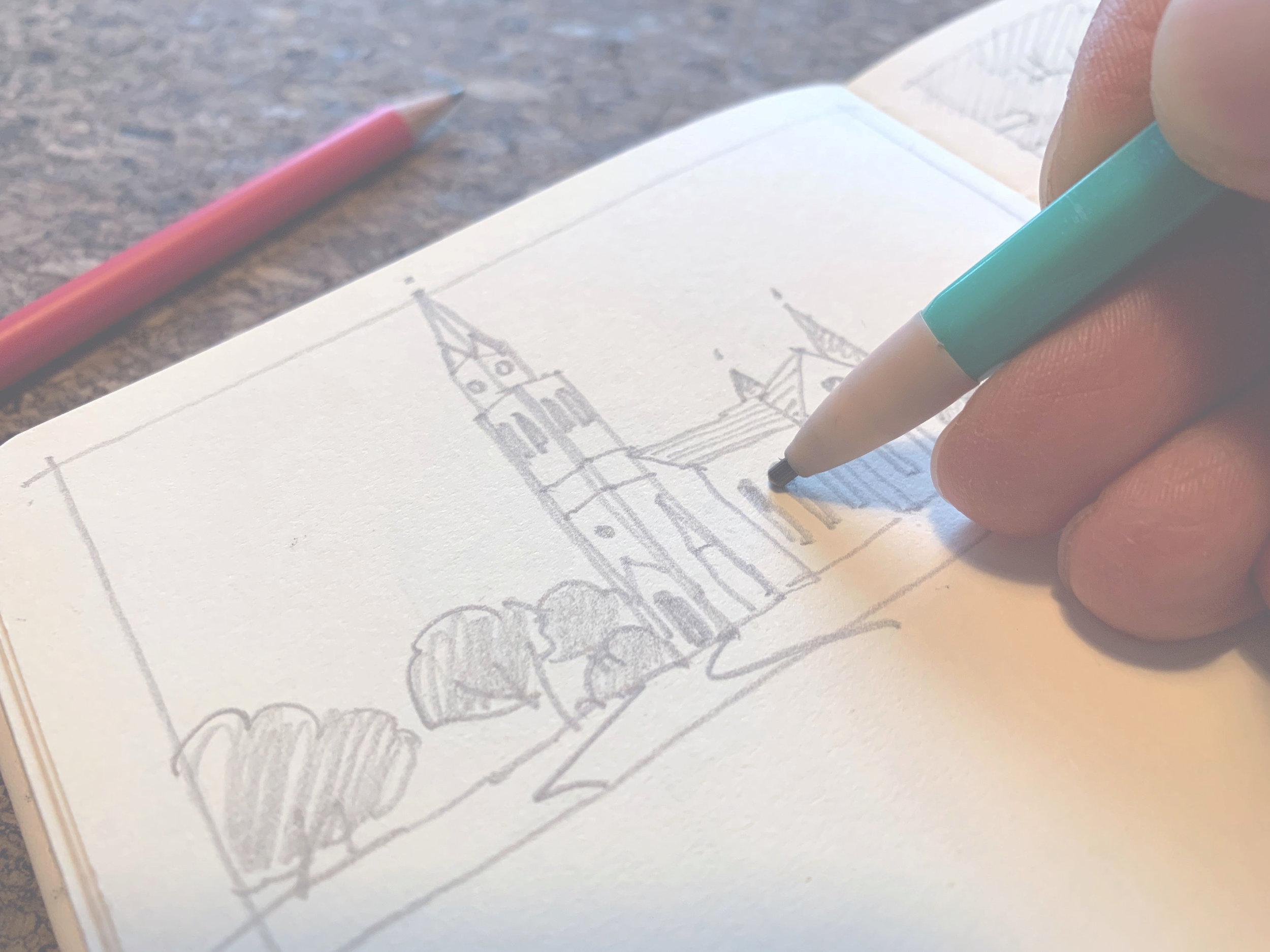 Architektur skizzieren
