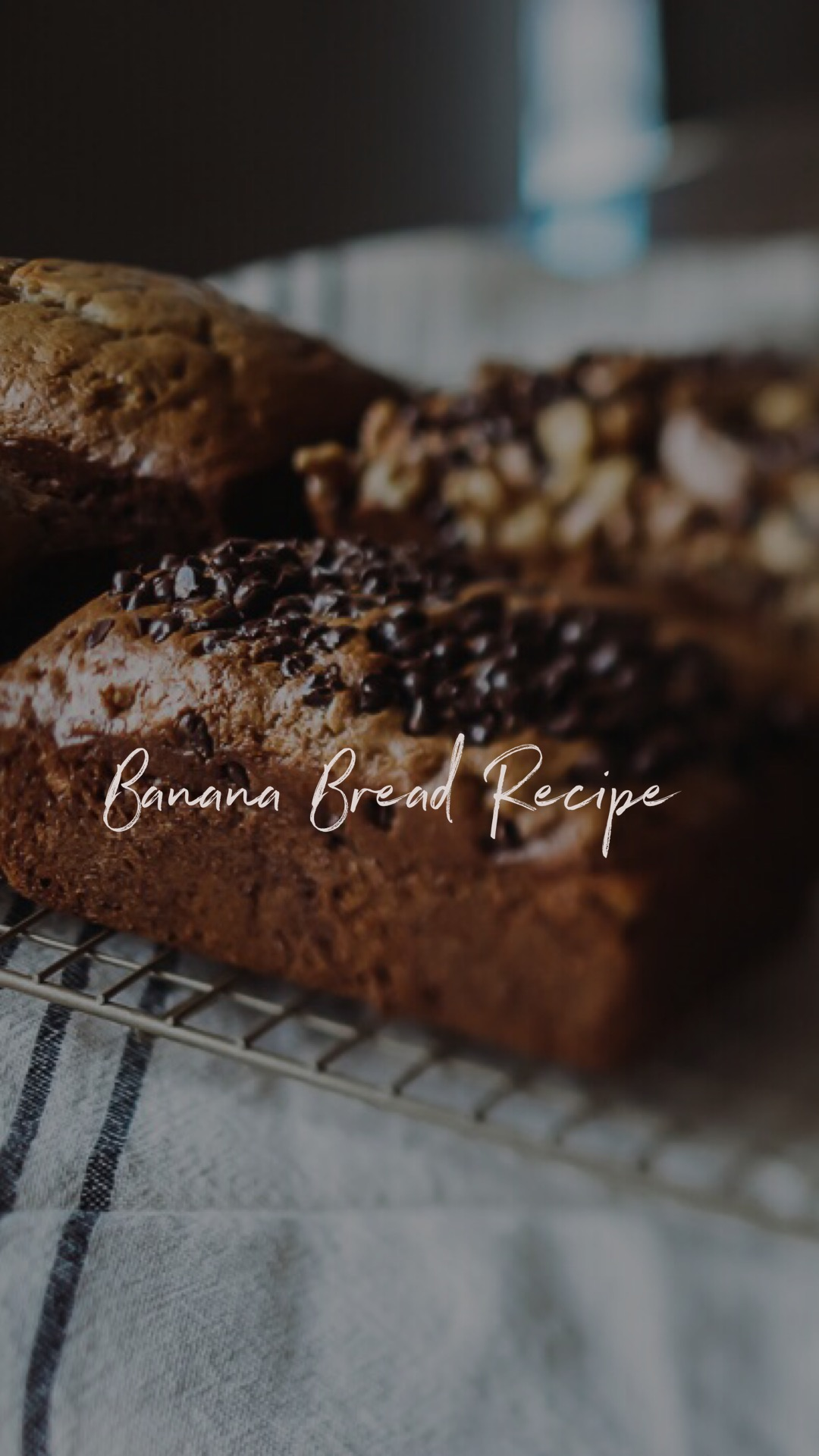 Recipe - Ingredients-5 tbsp butter, 1/2 c sugar, 1/2 c brown sugar, 1 large egg, 2 egg whites, 1 tsp vanilla, 1.5 c mashed bananas, 2 c flour, 1 tsp baking soda, 1/2 tsp salt, 1/4 tsp baking powder, 1/2 heavy cream, 1/3 c walnutsInstructions-preheat the oven 350 degrees, grease 9x5x3 loaf pan, beat butter, add sugars and beat well. add egg, egg whites, and vanilla. beat until well blended. add mashed bananas beat on high for 30 seconds. combine dry ingredients in a medium bowl. add flour mixture alternately with the cream to banana mixture, ending with the flour. add walnut, chocolate chips, or peanut butter chips. pour batter into prepared loaf pan. bake for about 1 hour. cool for 10 minutes.